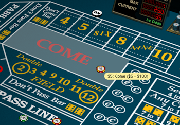 Craps Come Bet